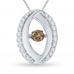 14K White Gold 1/4 ct. Brown Diamond Fashion Pendant