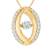 14K Two-Tone Gold .14 ct. Diamond Fashion Pendant