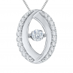 14K White Gold .14 ct. Diamond Fashion Pendant