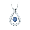 10K White Gold 1/4 ct. Blue Diamond Fashion Pendant