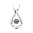 10K White Gold 1/4 ct. Brown Diamond Fashion Pendant