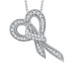 14K White Gold 1/5 ct Diamond Fashion Pendant