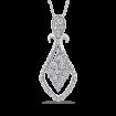 10K White Gold .12 Ct Diamond Fashion Pendant with Chain
