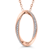 10K Rose Gold 1/10 Ct Diamond Fashion Pendant with Chain