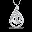 10K White Gold 1/3 Ct Diamond Fashion Pendant with Chain
