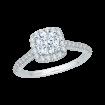 14K White Gold .45 ct. Diamond Promezza Engagement Ring with Round Center