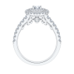 14K White Gold .56 ct. Diamond Promezza Engagement Ring with Round Center