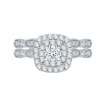 14K White Gold .45 ct. Diamond Promezza Engagement Ring with Round Center