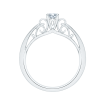 14K White Gold Round Diamond Solitaire Engagement Ring