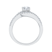 14K White Gold .24 ct. Diamond Promezza Engagement Ring with Round Center