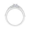 14K White Gold .38 ct. Diamond Promezza Engagement Ring with Round Center