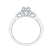 14K White Gold .14 ct. Diamond Promezza Engagement Ring with Round Center