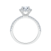 14K White Gold .44 ct. Diamond Promezza Engagement Ring with Round Center