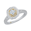 14K Two-Tone Gold 3/4 Ct. Diamond Promezza Engagement Ring With Round Center