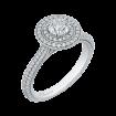 14K White Gold  1 Ct. Diamond Promezza Engagement Ring With Round Center