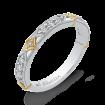 14K Two Tone Gold 1/3 ct. Diamond Promezza Wedding Band