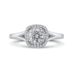 Platinum Diamond Double Halo Engagement Ring with Split Shank