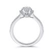 14K White Gold 3/4 Ct Diamond Promezza Engagement Set with Round Center