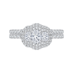14K White Gold  1  3/8 Ct. Diamond Promezza Engagement Ring With Oval Center