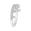14K White Gold 1/5 Ct. Diamond Promezza Wedding Band
