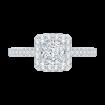14K White Gold .50 ct. Diamond Promezza Engagement Ring with Princess Center