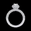 14K White Gold  7/8 Ct. Diamond Promezza Engagement Ring With Cushion Center