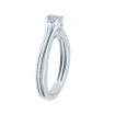 14K White Gold 2/3 ct. Diamond Promezza Engagement Ring with Cushion Center
