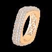 18K Pink Gold 1 7/8 Ct Diamond Carizza Boutique Fashion Ring