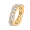 18K Yellow Gold 1 7/8 Ct Diamond Carizza Boutique Fashion Ring