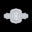 18K White Gold 1 5/8 Ct Diamond Carizza Boutique Bridal Ring
