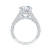 18K White Gold 7/8 Ct Diamond Carizza Boutique Bridal Ring