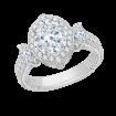 18K White Gold 1 1/2 Ct Diamond Carizza Boutique Bridal Ring
