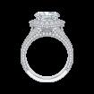 18K White Gold 1 3/8 Ct Diamond Carizza Boutique Bridal Ring