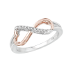 Heart Shaped Infinity Diamond Ring in 10K Two Tone Gold (0.05 cttw)