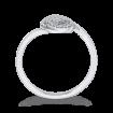10K White Gold .12 Ct Diamond Fashion Ring