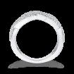 10K White Gold 1/2 ct Diamond Criss Cross Wedding Band Ring