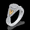 10K Two Tone Gold 1/2 ct Round White Diamond Fashion Ring