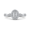 10K White Gold 1/3 ct Round Diamond Fashion Ring