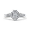 1/3 ct Round Diamond Cluster Fashion Ring In 10K White Gold