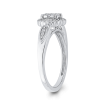 10K White Gold 1/3 ct Round Diamond Cluster Fashion Ring