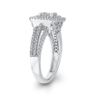3/4 ct Round White Diamond 10K White Gold Fashion Ring