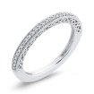 1/5 ct Round Diamond Half Eternity Band Fashion Ring In 10K White Gold