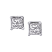 14K White Gold 1 Ct Diamond Princess Studs