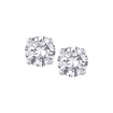 14K White Gold 3/4 Ct Diamond Round Studs