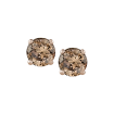 14K White Gold 3/4 Ct Brown Diamond Round Studs
